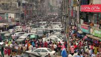 Traffic jam in Bangladesh
