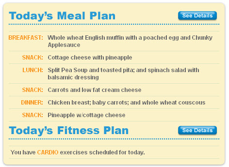 The Biggest Loser Club Meal Plan