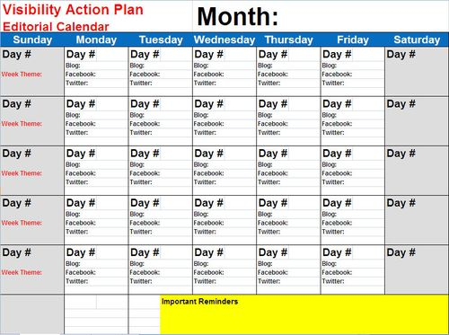 Do You Have A Plan For Your Social Marketing Digital Marketing - Content marketing schedule template