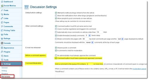 Wp-comment-settings