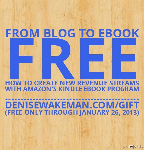From Blog to Kindle eBook – Free Gift